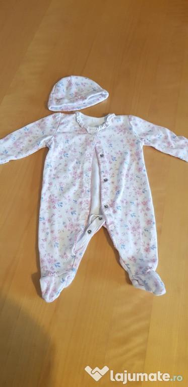 Set salopeta-pijama 0-3 luni- ca nou