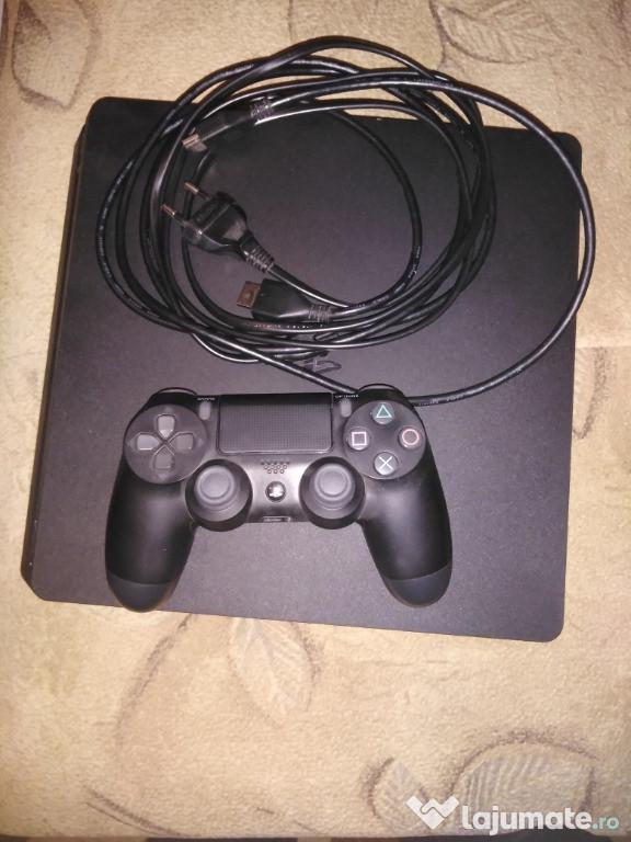 Ps4 slim, o maneta, cabluri originale si 2 jocuri