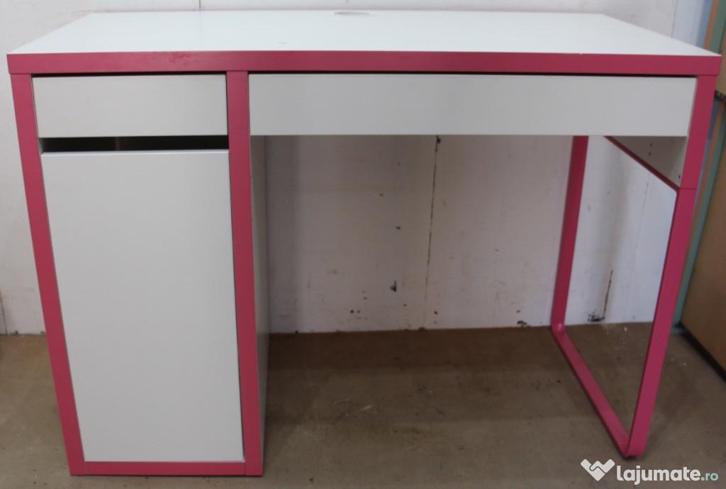 Birou Solid tip Ikea; Birou cu 2 sertare si usa; Blat 105x50