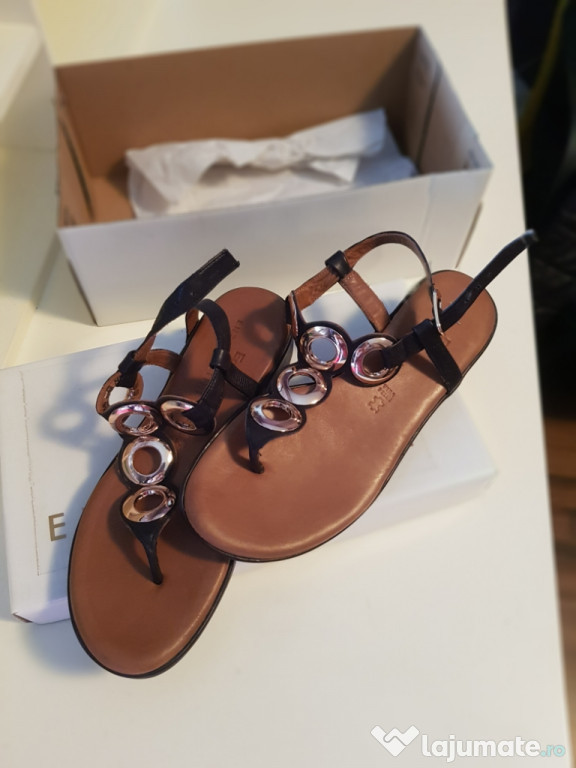 Sandalele Enzo Bertini, damă, piele naturală.