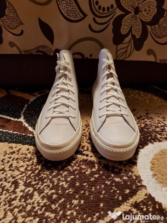 Converse x Nike Zoom Piele Alba High Tops