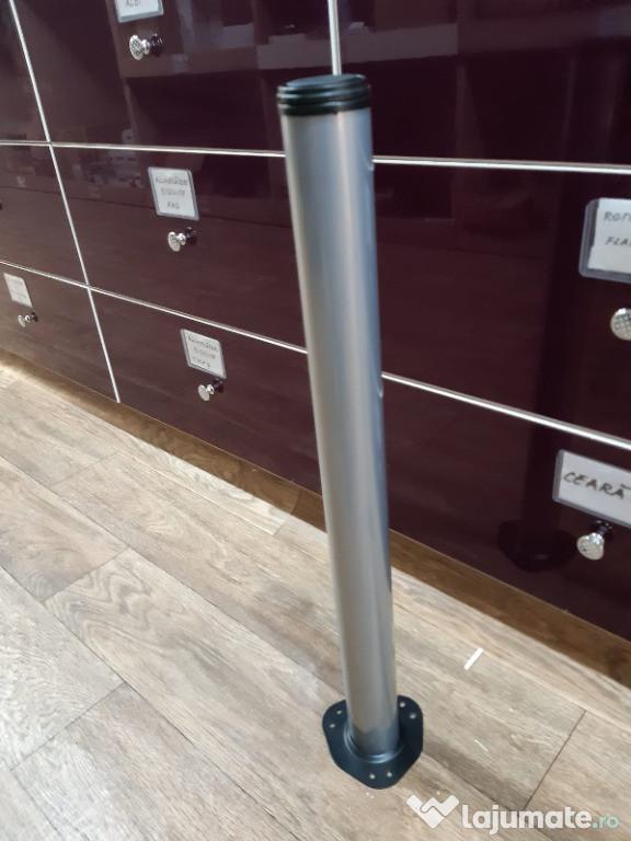 Picioare de Masa Premium Matt Chrom 710 mm (satin)