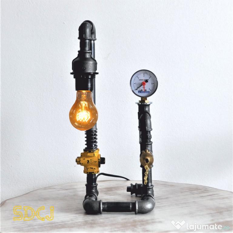 Lampa 2 brate steampunkdesigncj, lampa steampunk