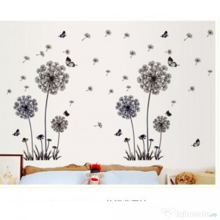 Sticker Decorativ, Flower Black 165 Cm, 79STK