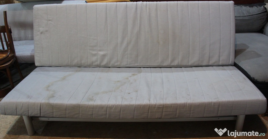Canapea extensibila tip Ikea; Pat cu Saltea 200x140