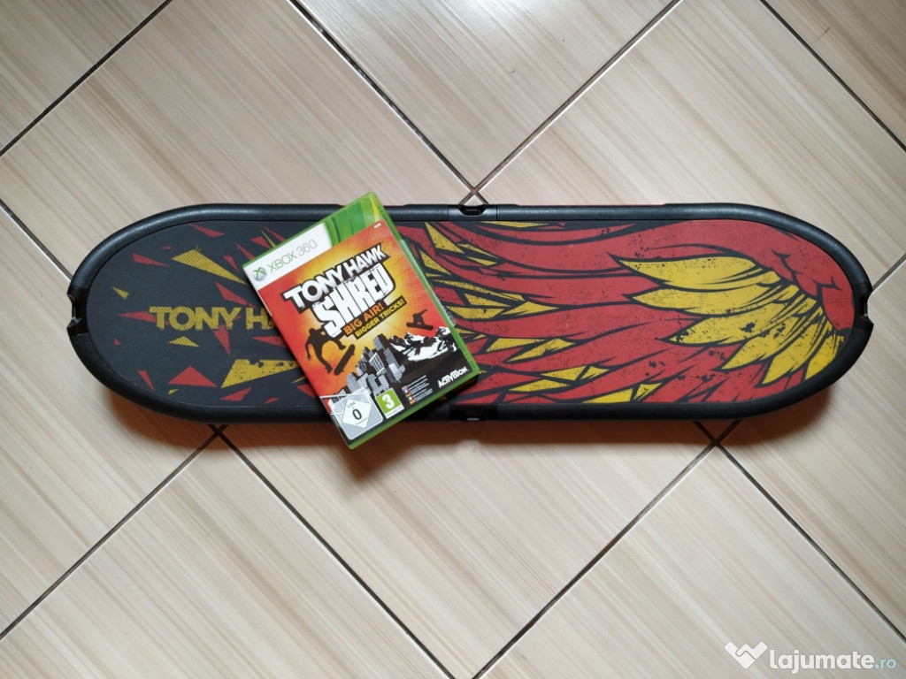 Xbox 360: Set Tony Hawk - Board+ joc Tony Hawk Shred Big Air
