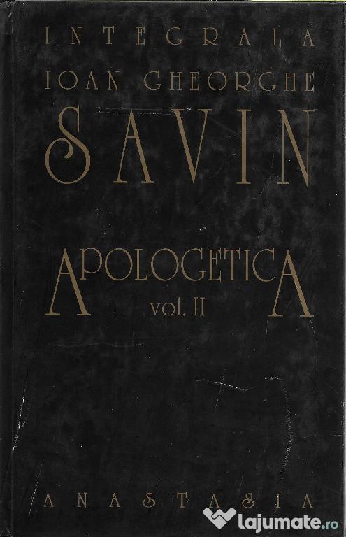 Cartea I. Gh Savin, Apologetica, volumul II