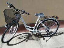 Bicicleta dama neuzer CITY 6SP - 26'' Alb/Violet-Gri