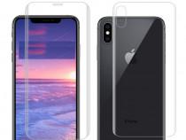 Iphone x xs xr xs max folie silicon curbata fata + spate