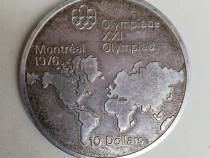 10 dollars 1973 Canada moneda argint 925 Jocurile Olimpice