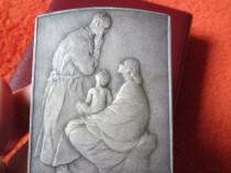 Tablou miniatura ,placheta metalica, 3d vintage