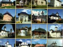 21 broşuri, pliante despre mănăstiri, biserici, schituri