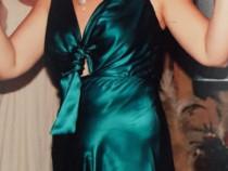 Rochie lungă elegantă din mătase naturală marca irina schrot