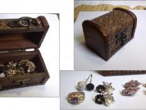 Caseta din lemn cu bijuterii