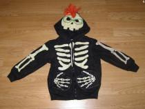 Costum carnaval serbare schelet fosforescent 4-5 ani