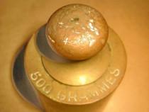 A444-Greutate cantarit 500 grame in bronz masiv.