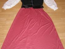 Costum carnaval serbare sclava rochie medievala adulti L-XL