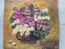 Tablou cu liliac in vaza