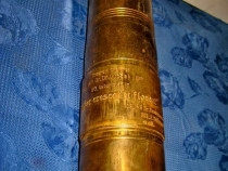 A561-Vaza din obuz militar vechi din bronz personalizata.