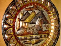 A641-Aplica Egipt Sfinx-Soare-Piramide.