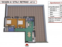 Dezvoltator penthouse 3 camere la alb 67mp+118mp turnisor