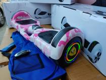 HoverBoard Roz 2x500w Nou cu garantie Bluetooth-Telecomanda