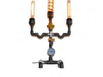 Lampa sfesnic steampunk design, lampa steampunk