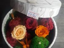 Aranjamente cu trandafiri criogenati