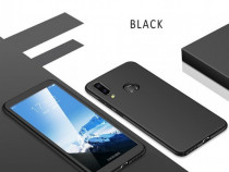 Samsung M20 Husa 360 Plastic Fata Spate Folie Sticla Neagra
