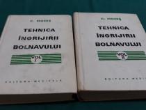 Tehnica îngrijirii bolnavului/ 2 vol./ c.mozeș/1974