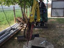 Execut lucrări cu mini excavator și basculabila