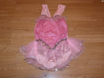 Costum carnaval serbare rochie dans pentru copii de 7-8 ani