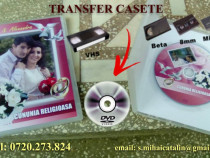 Transfer casete video si audio pe supor CD, DVD, USB-stick