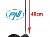 Antena Radio CB PNI Extra 40 cu magnet SWR 1.0 Fibra Sticla