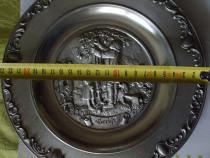 Platou deosebit argintiu vechi din germania