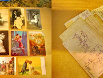 A925-Carti Postale vechi tema cuplu barbat-femeie-personaje.