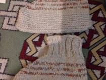 Ciorapi groși din lână croșetați manual