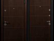 Usa metalica de intrare in apartament Modern2 nuc/fag alb