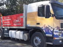 Camion Volvo FM12 cu macara si remorca
