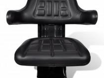 Scaun de tractor cu suspensie, negru 210157