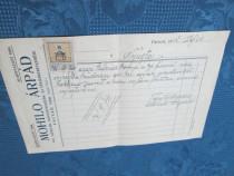 1571- Act vechi romanesc datat si timbrat- Faget- 24 02 1912