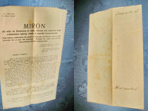 1595-Mitropolit Miron Cristea-Socoteala-act vechi romanesc.