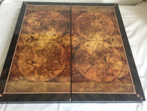 Table (joc de Table) - Lux lemn lacuit, model glob pământesc