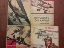Lot 4 carti despre aviatie si aviatori / R5P3S