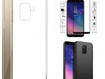 Samsung J4 J6 Plus A6 A6+ A7 A9 2018 Husa Silicon si Folie S