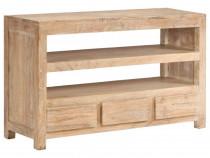 Comodă TV, lemn masiv de acacia,246103