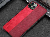 Husa Telefon Plastic Apple iPhone 11 6.1 Textil Red