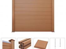 Set gard WPC, pătrat, 183 x 187 cm 275739