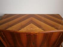 Comoda 2 usi lemn masiv intarsie