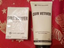 Yves rocher -set (parfum + gel dus) cuir vetiver - sigilat